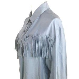 Vintage Silk Fringe Tassel Button down